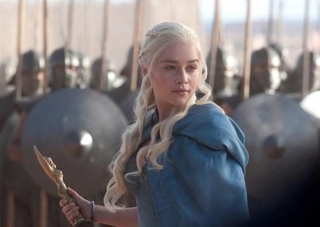 Daenerys Targaryen in the show.