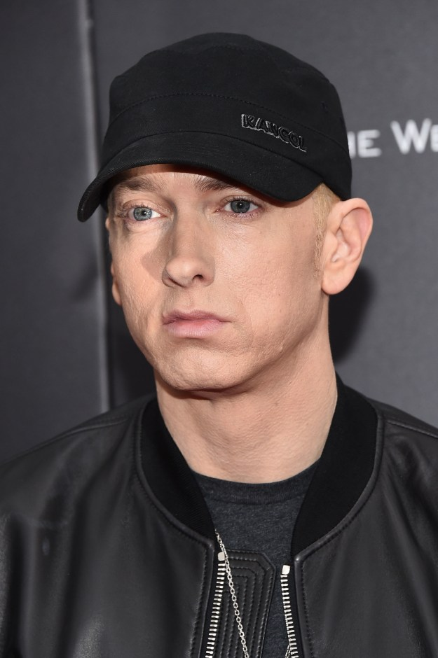 Marshall Mathers. Slim Shady. Eminem. The guy Macklemore wishes he was. A familiar face from your past. But maybe not anymore.