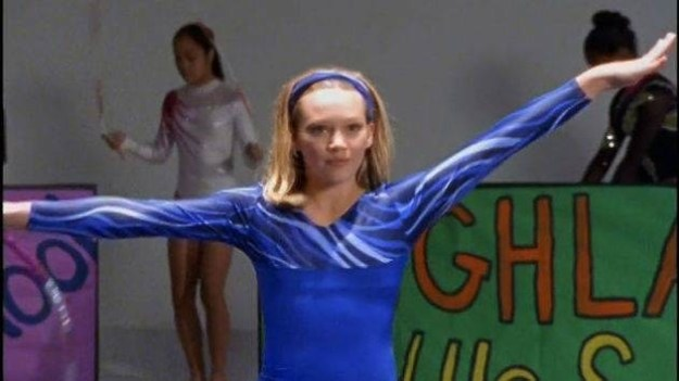 ...Hilary Duff is also a damn good gymnast.