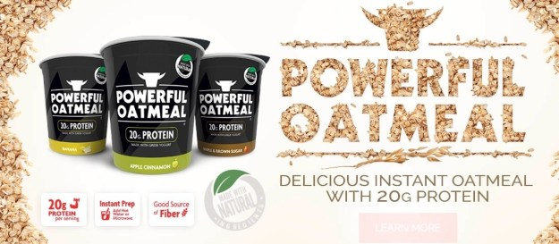 And oatmeal.