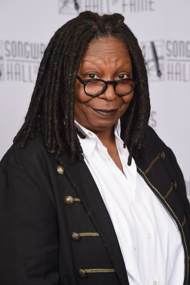 Whoopi Goldberg doesn't have eyebrows.