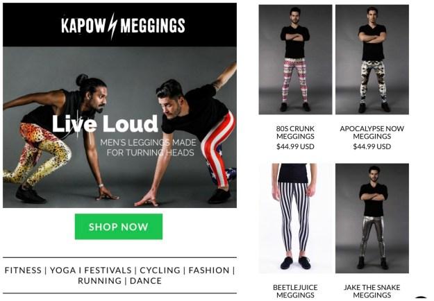 Wear leggings.