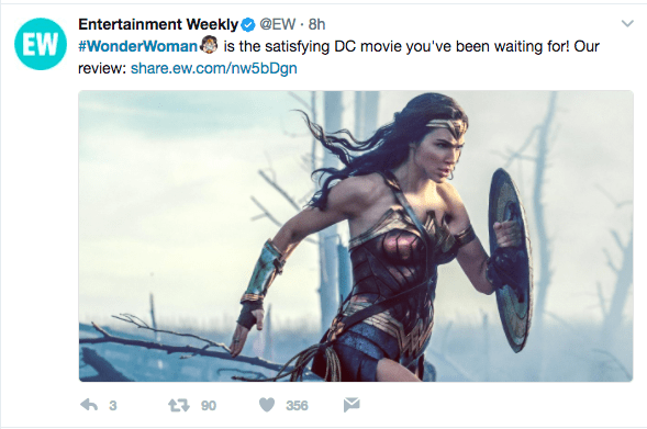So, everyone is pretty much in agreement that Wonder Woman is phenomenal.