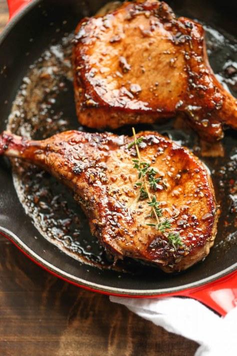 Pork Chops with glaze