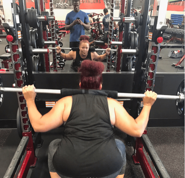 Oh yeah, she's also a beast in the gym: