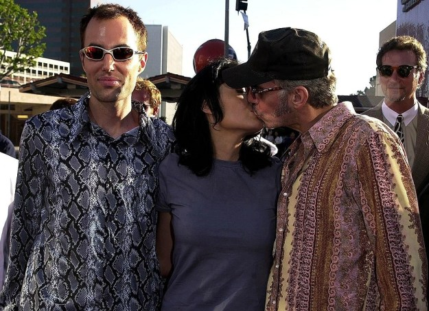 And Angelina Jolie kissing Billie Bob Thornton while her brother just stands there but they are all still touching.