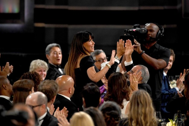 Among the star-studded attendees was one Patty Jenkins, director of Wonder Woman. She got her own shoutout before the program began, and received a standing ovation.