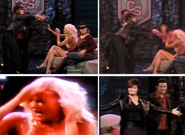 When Sharon Osbourne poured a drink on Megan from Rock of Love for dissing Ozzy.