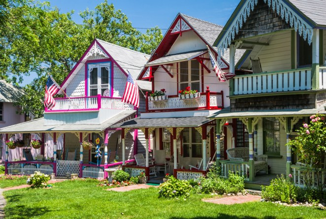 This enclave on Martha's Vineyard is known for its colorful gingerbread houses circling the sweeping town green.