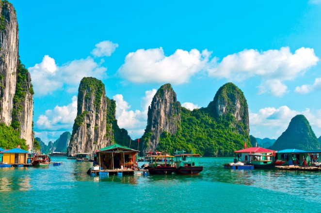 Cua Van is the largest of all the floating fishing villages along the islets of Ha Long Bay with over 170 houses roped together. The backyard view of emerald water and jutting limestone karsts isn't too shabby.