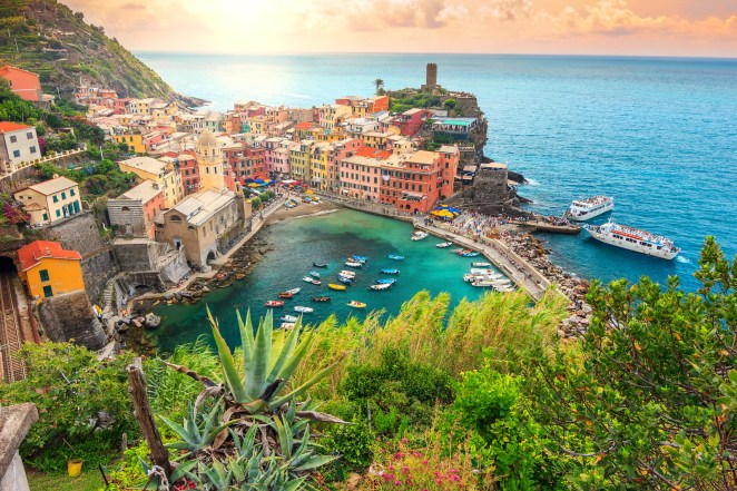 The most instagrammable place on earth? Yup. Vernazza is one of five Crayola-colored towns that make up Cinque Terre on Italy's Northwestern coast. Turn down any of the narrow cobblestone streets and you'll find stunning views of the Ligurean Sea everywhere you look.