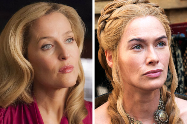 Gillian Anderson as (maybe???) mother-of-the-year Cersei Lannister.