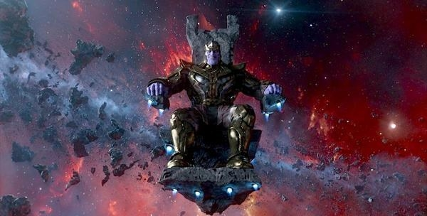 We see a spaceship crash onto a Mars-like planet where the majority of the fighting in the trailer happens. Thanos phases into the planet, as if from a black hole of his own making as Tony Stark and the Avengers stare him down ready for battle.