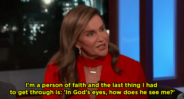 During the interview, she first opened up about her faith and her transition.