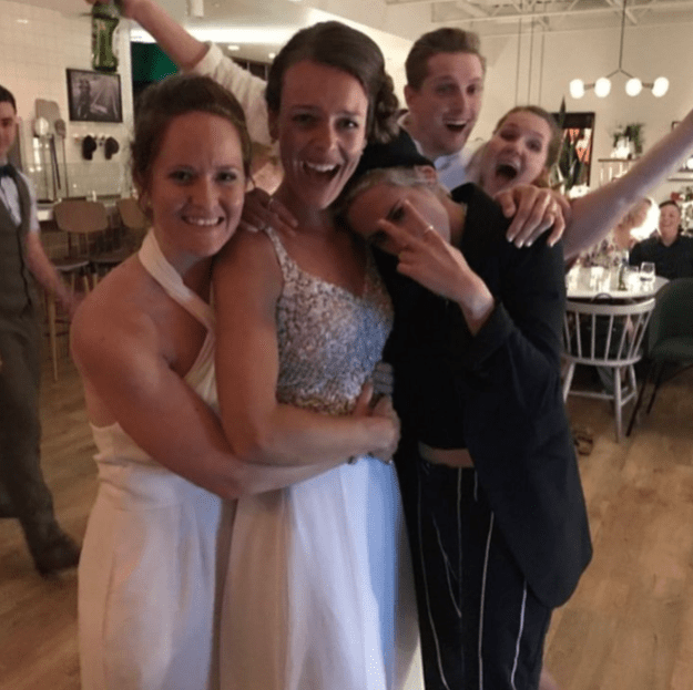 Stewart made an unexpected appearance at Kirsten and Kayleigh's reception, making their special day just that much more memorable.
