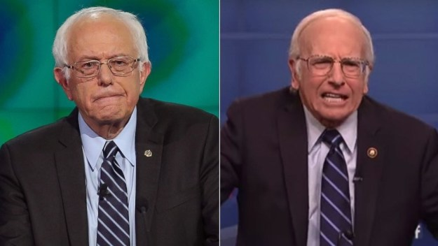 It's no secret that these two fellas look — and sound — almost exactly alike, and honestly, I sometimes had trouble telling them apart when David was playing Sanders on Saturday Night Live last year.