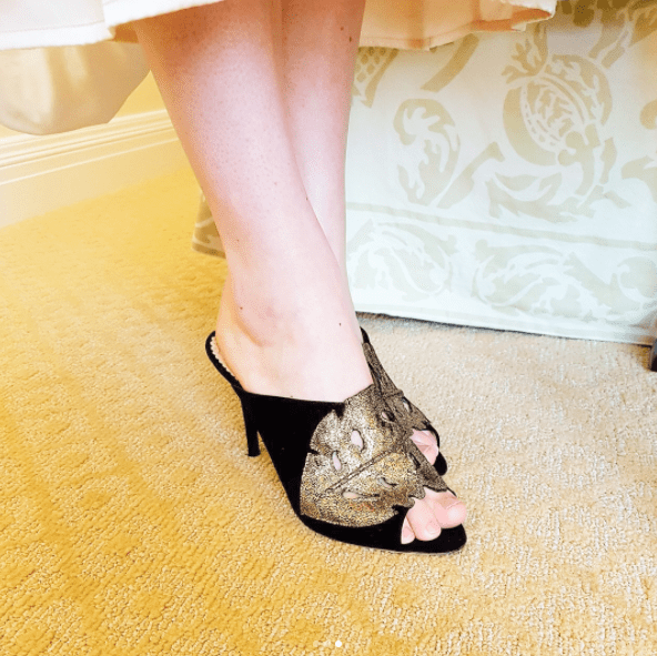 Oh, and here's a close-up of Gemma's Seven Kingdoms-worthy shoes.