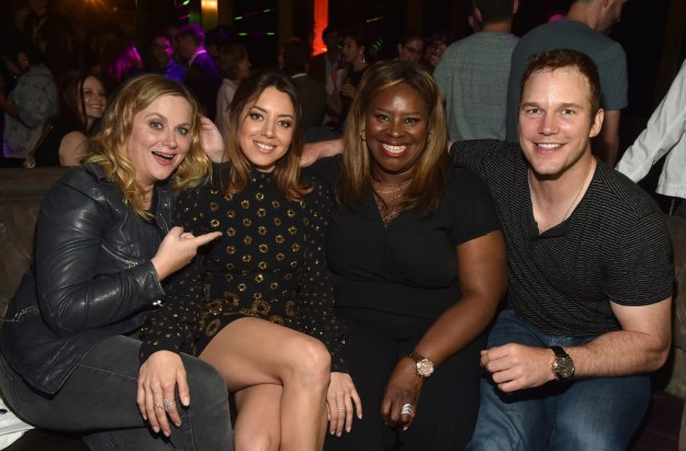 Aubrey Plaza's Parks and Recreation costars came out to show their support at the premiere of her new movie, Ingrid Goes West in Hollywood on Thursday night.