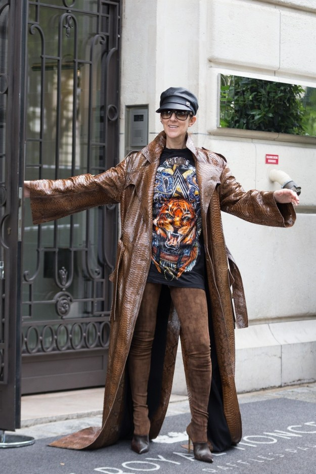 Celine Dion is the reigning queen of fashun.