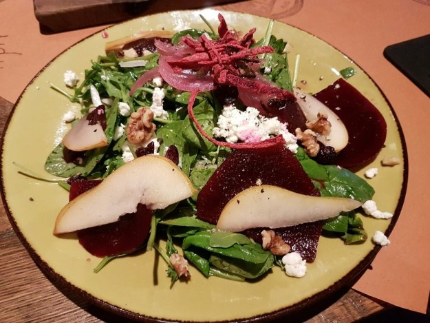 The Goat Cheese, Beet and Walnut Salad
