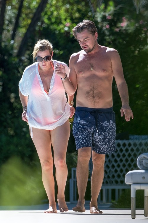 """Leonardo DiCaprio"" and ""Kate Winslet"" together on vacation."