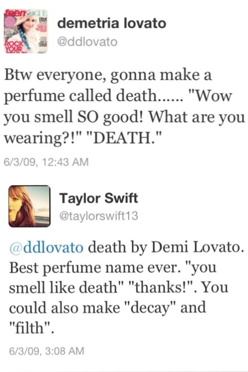That time she told Demi Lovato she could smell like a rotting corpse.