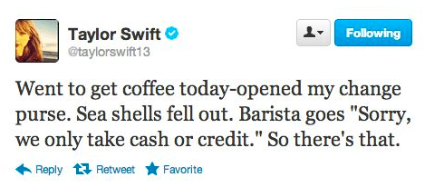 That time she tried to pay in shells.