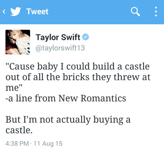 That time she wasn't building a castle.