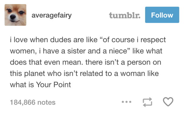 On respecting women: