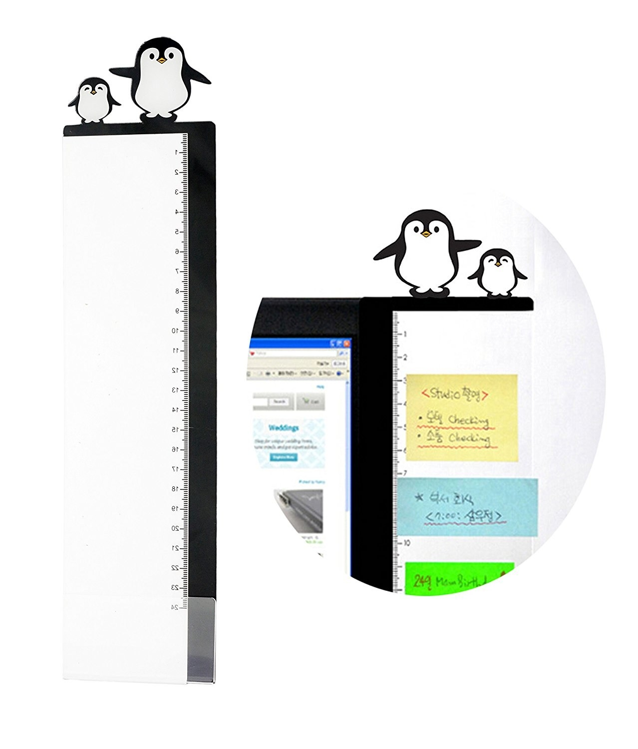 It also has a ruler and a pair of super cute penguins.Get it on Amazon for $6.99.