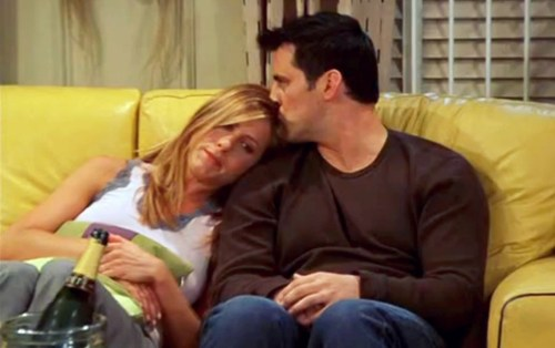 Rachel and Joey getting together on Friends: