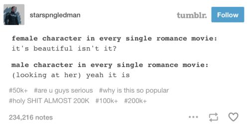 On cheesy romance scenes: