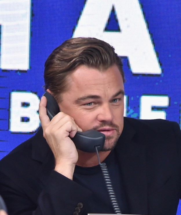Hello. Idk if you know this, but Leonardo DiCaprio is the first person ever to talk on a phone! And look at him go!!!