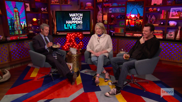 Anyway. This week, Martha was a guest on Bravo's late night talk show, Watch What Happens Live, and Andy Cohen asked her a question about everyone's favorite fall flavor — pumpkin spice.