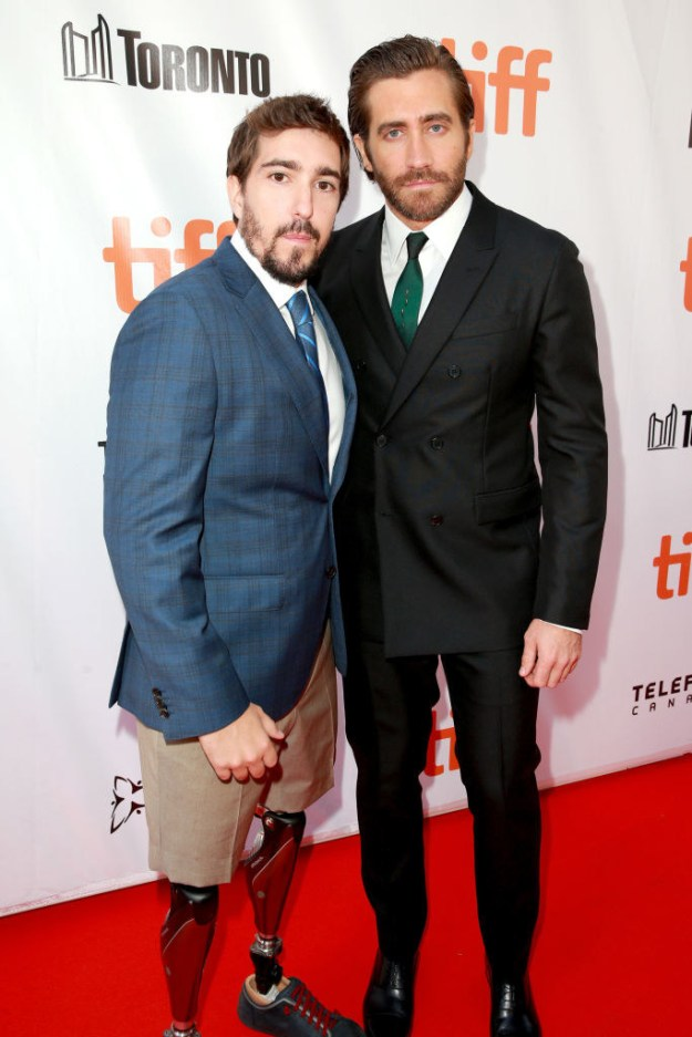 In the upcoming biopic Stronger, Jake Gyllenhaal plays Jeff Bauman, a man who lost his legs as a result of the tragic Boston Marathon bombing in 2013.