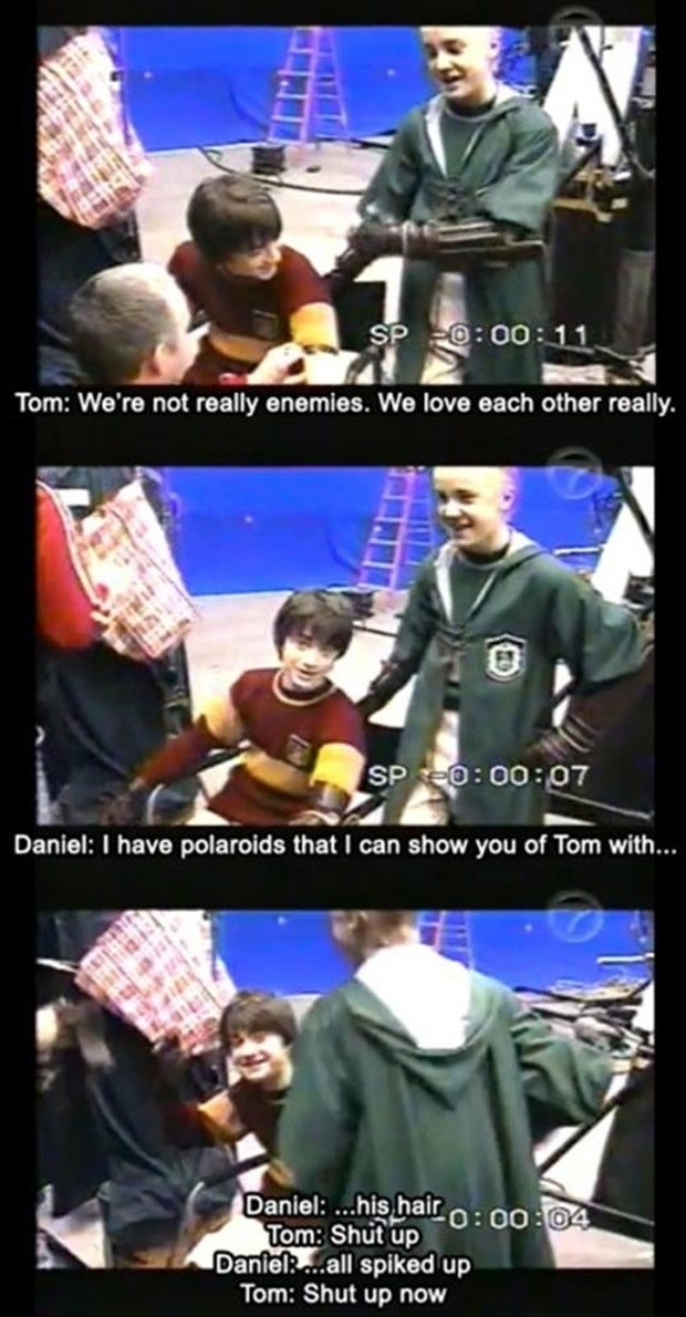 Everyone knows that the cast of Harry Potter are the most wholesome film cast ever.