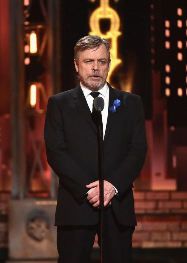 This is Mark Hamill, aka Luke Skywalker from the Star Wars franchise.
