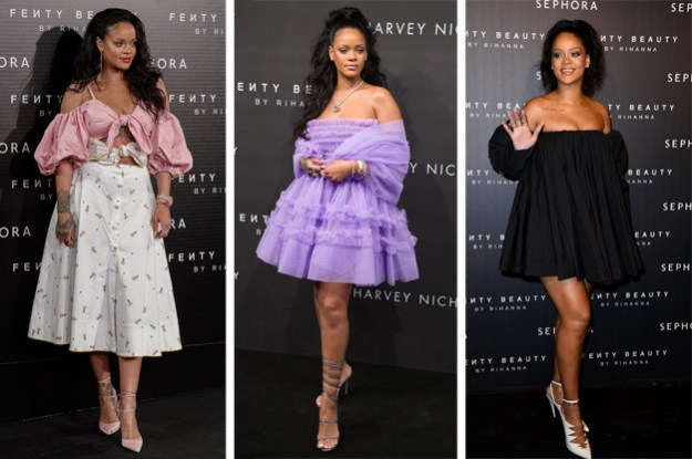 And recently Rihanna has been on a makeup tour, with Fenty Beauty events taking place in New York, London, Paris, and Madrid.