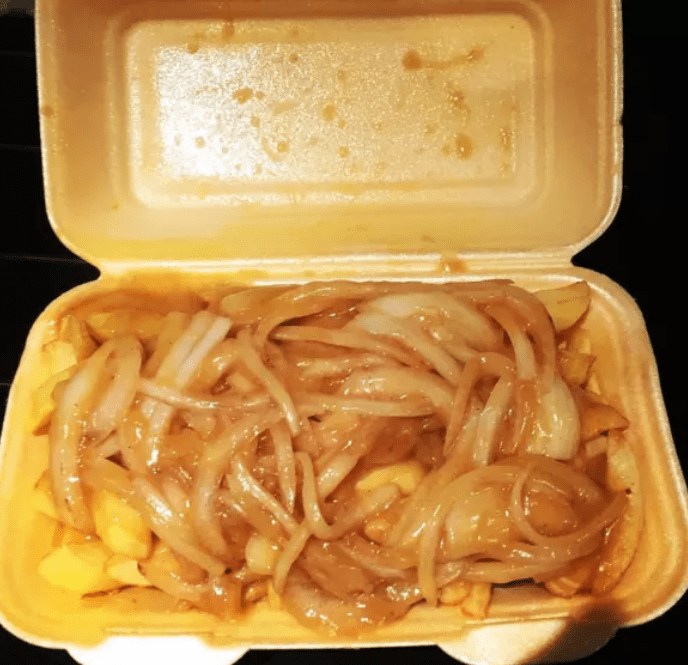 Curry sauce with chips sounds weird, but tastes so damn good.