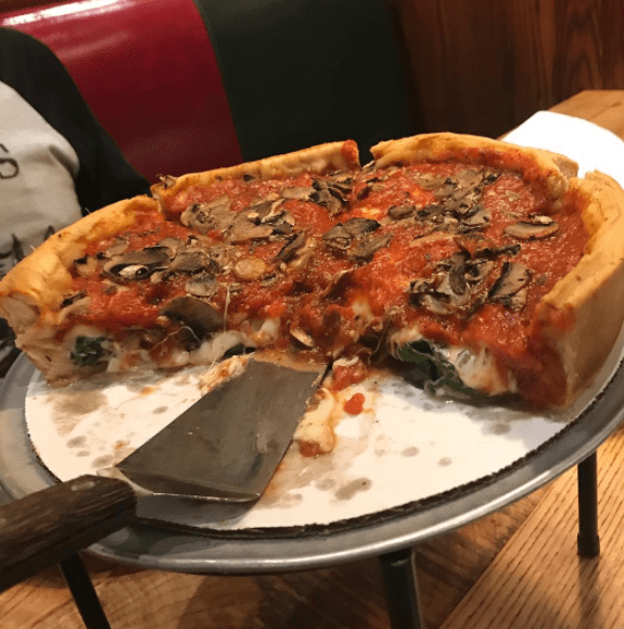 What it is: A savory pie with a deep crust topped with sauce, sausage, cheese, and even more sauce.What it's not: Pizza. (Let's be honest ― deep-dish pizza is its own food group).Learn how to make it here.