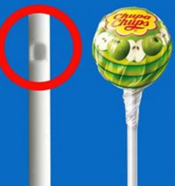 Here's the reason: The stick is hollow so that any child who accidentally swallows the stick won't choke to death. And as for the hole, it's there to hold your sucker in place. Without it, the ball-shaped candy on top would just fall right off the stick. During production, a bit of sugar paste is added into the hole, which helps keep the sucker attached to the stick.