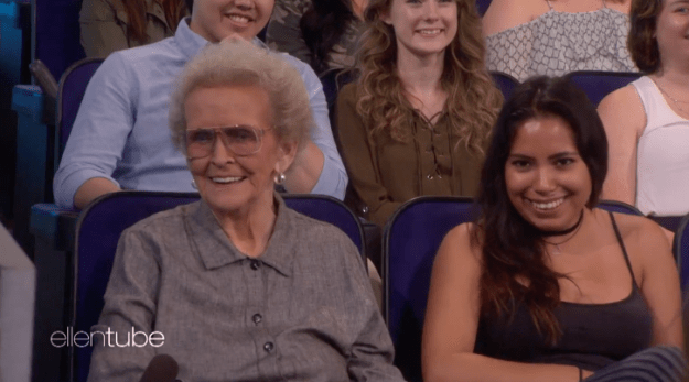 Ellen joked that Miley's grandma probably already knows it all, while Miley just hoped she couldn't hear very well...