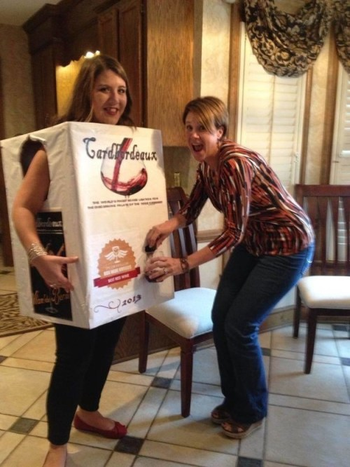 A functioning box of wine: