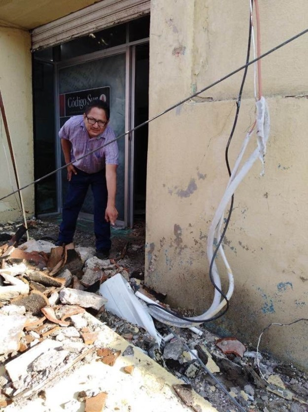 The city of Tuxtla Gutierrez, in the state of Chiapas, is several miles from the epicenter of the earthquake that struck Mexico Thursday night but felt its full strength.