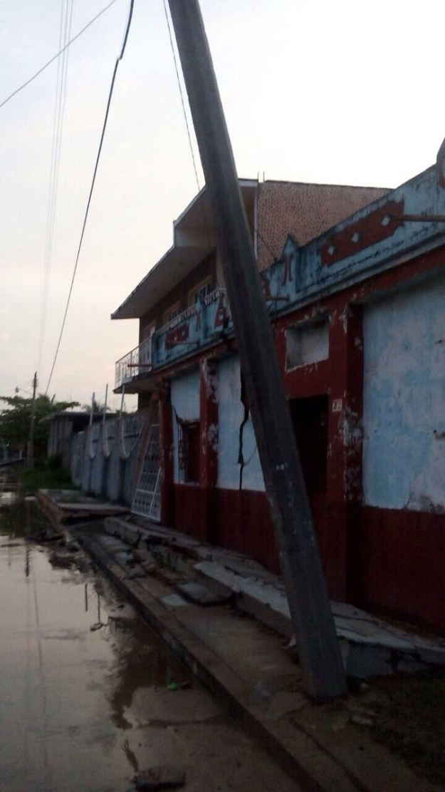 The earthquake was also felt in Tonalá, another city in Chiapas.