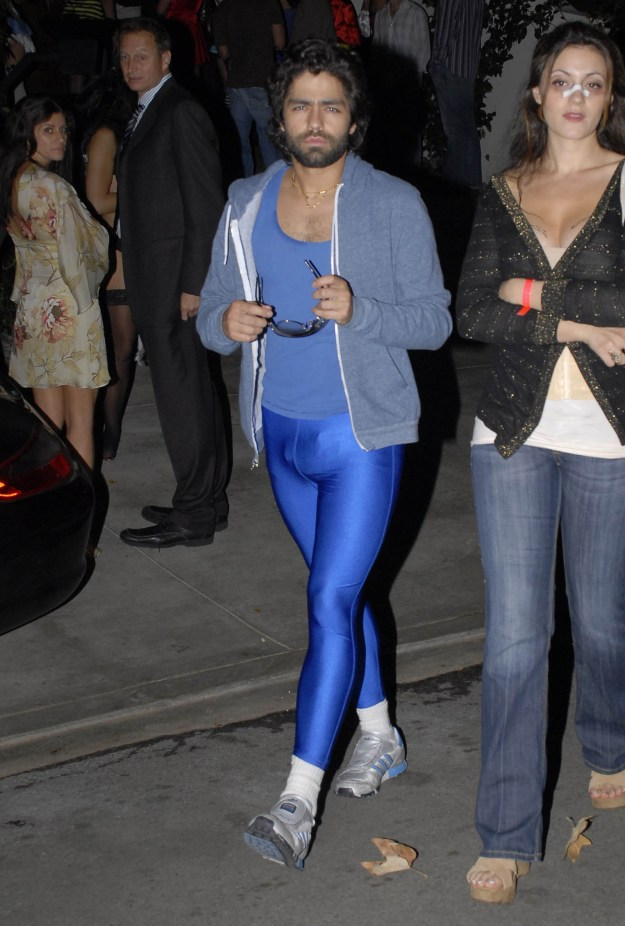 Adrian Grenier really let it all hang out.
