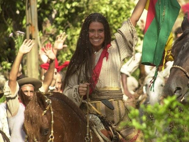Ela foi um mulherão da porra na realidade e na ficção: ela e o Giuseppe Garibaldi (que na novela era o Thiago Lacerda) se amaram loucamente e lutaram juntos em quatro países diferentes.