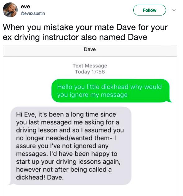 Still talk to Dave: