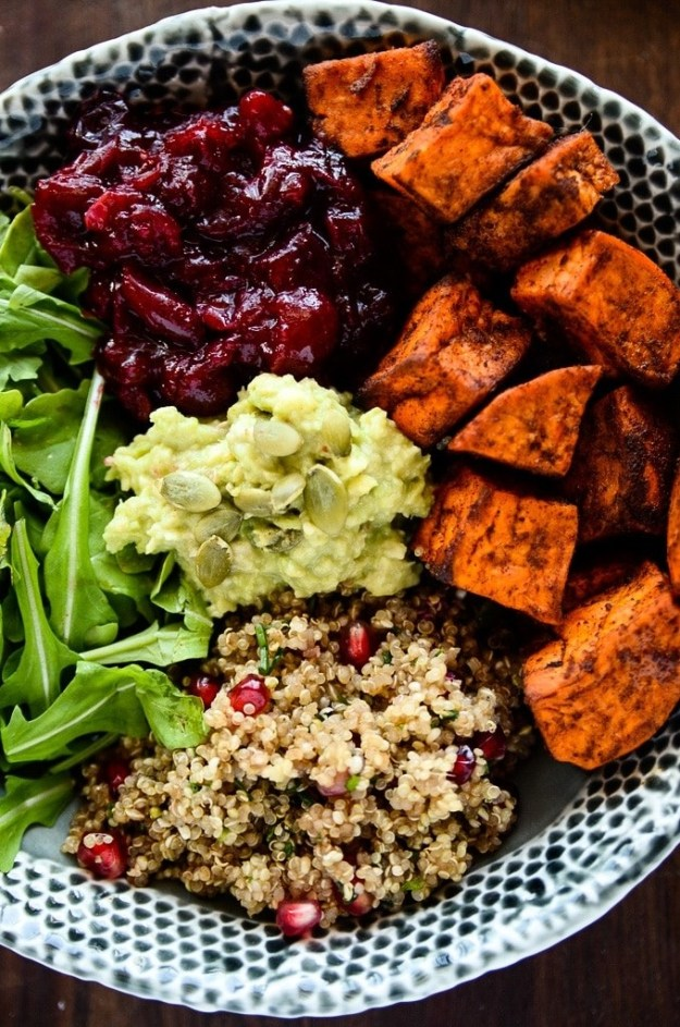 Sweet Potato, Cranberry, and Quinoa Bowl