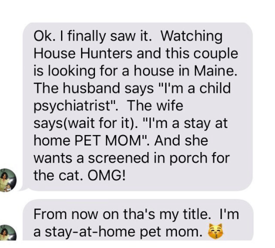 This mom, who has a lot of feelings about House Hunters.